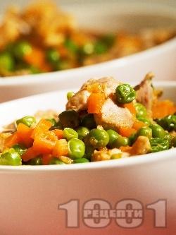 Яхния от пилешко месо и грах - снимка на рецептата